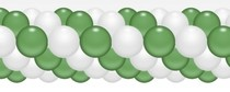 Balónková girlanda zeleno-bílá 3 m