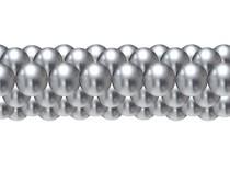 Balónková girlanda chrom stříbrná 3 m