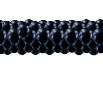 Balónky chromové černé girlanda 3 m