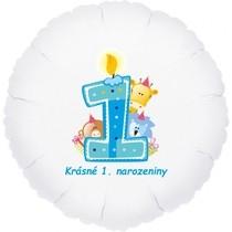 Krásné 1. narozeniny fóliový balónek kruh pro kluky