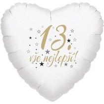 13.narozeniny balónek srdce