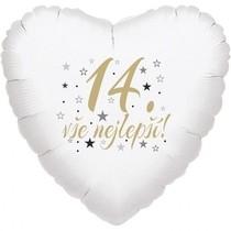 14.narozeniny balónek srdce