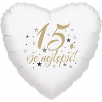 15. narozeniny balónek srdce