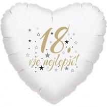 18. narozeniny balónek srdce