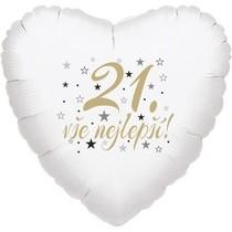 21. narozeniny balónek srdce