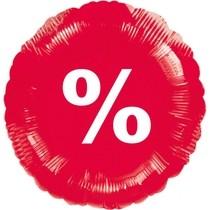 Balónek fóliový červený %
