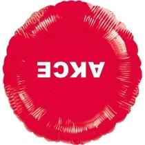 Visící balónek fóliový červený AKCE