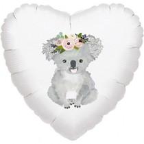Balónek koala srdce