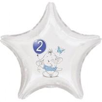 2.narozeniny modrý slon hvězda foliový balónek