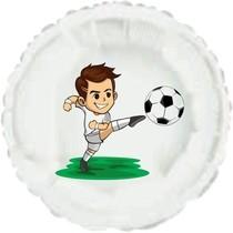 Malý fotbalista balónek kruh