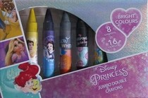 Princess oboustranné voskovky 8 ks