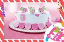 Podnos po dort bílý 32 cm