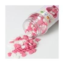 Sypání na dort FunCakes srdíčka ružová a bílá 60g