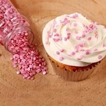 Sypání na dort FunCakes růžové konfety 70g