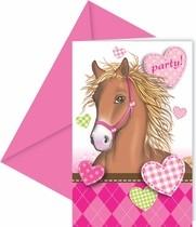 Koně pozvánky na party 6ks