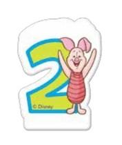 Medvídek Pú dortová svíčka s číslem 2