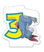 Medvídek Pú dortová svíčka s číslem 3