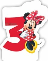 Minnie svíčka narozeniny číslo 3