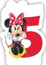 Minnie svíčka narozeniny číslo 5