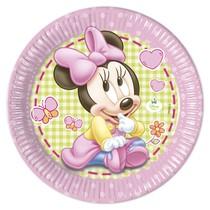 Minnie Baby talíře 8ks 23cm