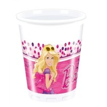 Barbie kelímky 8ks 200ml