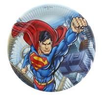 Superman talíře 8ks 23cm