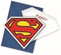 Superman pozvánky na party 6ks