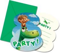 Hodný dinosaurus pozvánky na party 6ks