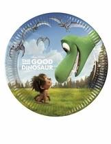 Hodný dinosaurus talíře 8 ks 20 cm