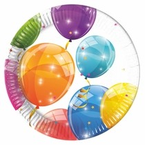 Talíře balónky 8ks 20cm