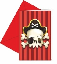 Piráti pozvánky na party 6ks