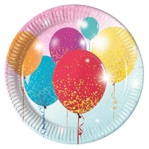 Talíře balónky 8ks 23cm