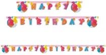 Nápis šťastné narozeniny balónky 2m x 15cm
