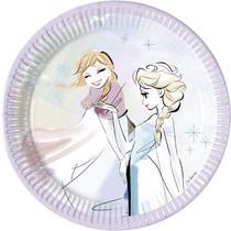 Frozen papírové talíře 8 ks, 20 cm