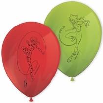 Kouzelná beruška a černý kocour balónky 8 ks 28 cm