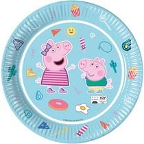 Prasátko Peppa talíře 8 ks 23 cm