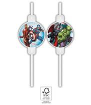 Avengers slámky na pití 4ks