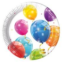 Talíře balónky papírové 8 ks 23 cm