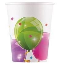 Kelímky balónky papírové 8 ks 200 ml