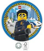 Lego City talíře papírové 8 ks 23 cm