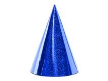 Čepičky modré holografické 6 ks 17 cm