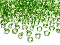 Diamanty světle zelené 1,2cm 100ks