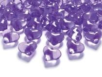 Srdíčka fialové 2,1cm 30ks