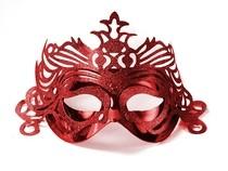 Škraboška červená s ornamentem