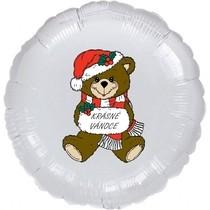Krásné vánoce balónek stříbrný
