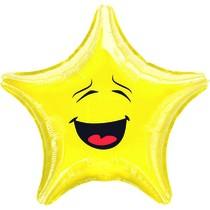 Smajlík balónek hvězda 43 cm