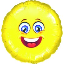 Smajlík veselý balónek kruh 43 cm
