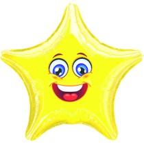Smajlík veselý balónek hvězda 43 cm