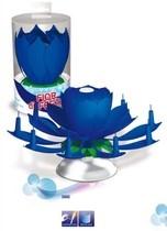 Hrající fontána na dort a svíčky modrá
