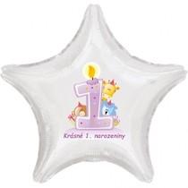 Narozeninové balónky s číslem dětské